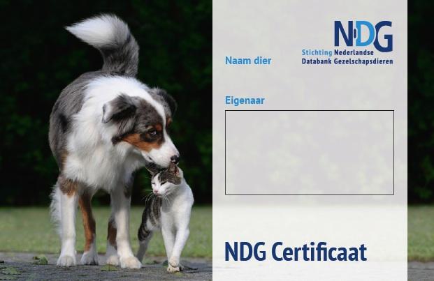 een certificaat na registratie
