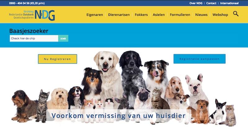 registreren huisdieren